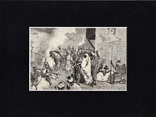 Antique woodcut print :Morocco / return circumcision 1883 matted / Marokko