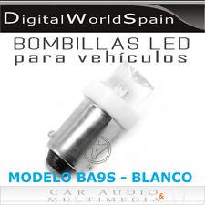 2 UNIDADES BOMBILLA DE LED MODELO BA9S BAYONETA LUZ BLANCA LUZ DE POSICION