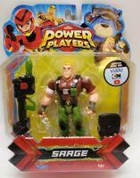 ZAG HEROEZ POWER PLAYERS Sarge Cartoon Network Playmates Action Figure, Free Sh