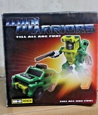 TRANSFORMERS IGEAR MINI WARRIORS MW-03 HENCH MIB G1 BRAWN MASTERPIECE SCALE