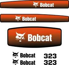Bobcat 323 Decals Stickers, Repro Aftermarket Decal kit