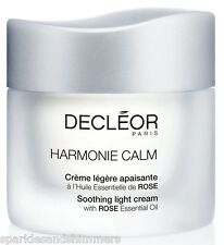 Decleor HARMONIE CALM Soothing LIGHT Cream With Rose Essential Oil 50ml