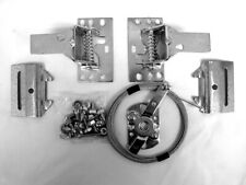 Garage Door Double Snap Latch Kit w/ 20ft Cable Latches Fasteners