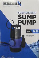BEISEN 2000GPH 1/2HP Clean/ Dirty Water Submersible Pump