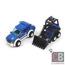 Custom Brick Custom Modèle THW Fait Maison Véhicule Personnel avec Minibagger