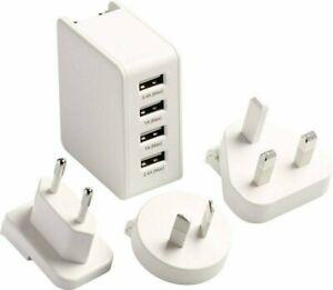 Go Travel World Wide Charger with 4 USB ports - USA / UK / EU /AU Plug