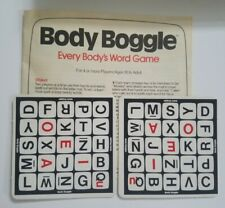 1984 Body Boggle Replacement Pieces/Parts Rule Book & 2 Guide Cards