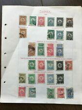 Turkey Small Detailed Early Stamp Collection on Pages