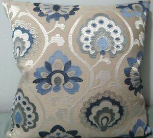 "Jane Churchill, Orissa, embroidered linen for cushion cover, 17x17"""