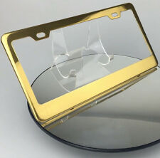 New Powder Coated Gold Porsche Toyota License Plate Stainless Steel Frame Holder
