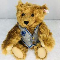 2000 Steiff Bear Club Limited Edition Century Jointed Teddy Vest Growler #420221