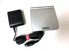 Nintendo Game Boy Advance Sp Platinum System w/ OEM Charger & New Battery!