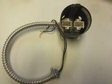 Lightolier 1910XD1 Recessed Lighting Socket and Whip For  (2) 13 Watt Lamps