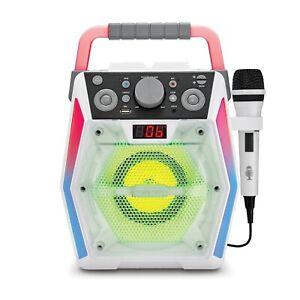 Singing Machine Glow SML2200 Bluetooth CDG Karaoke Machine System NEW