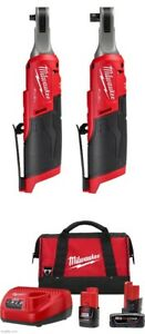 Milwaukee 2567-20 & 2566-20 M12 Cordless Hi Speed Ratchet Battery Starter Kit