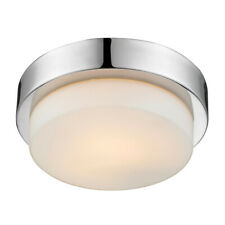 "Golden Lighting 1270-09 Chrome 9""W Flush Mount Drum Ceiling Fixture"