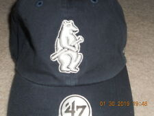 225274d9eb9 Chicago Cubs Cooperstown Collection Hat Cap 1908-14 Logo Bear Guitar Logo  Adj