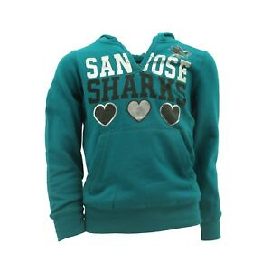 San Jose Sharks Kids Youth Girls Size Hooded Light Sweatshirt Official NHL New