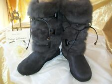 Pajar Juliana Fur Boot Charcoal Color Ladies Size 39 = 8 - 8.5 US Brand NEW Warm