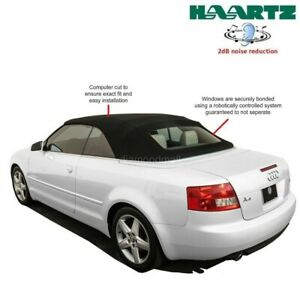 Audi A4/S4 Convertible Soft Top With Heated Glass window in Black Stayfast Cloth