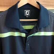 EUC Mens Blue FootJoy Athletic Fit Spandex Poly Golf Athletic Polo Shirt XL