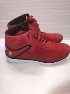 Puma Ferrari Men's F116 Skin Mid SF Rosso Corsa and Black Sneakers Size 12