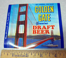 Vintage Original Label, 1960s Golden Gate Beer Label Fantastic graphics & color