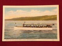 New York, Seneca Lake Watkins Glen Boat Vintage Postcard