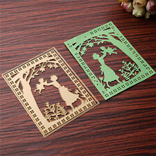 2Pcs Gold Dies Metal Cutting Stencil For Scrapbooking Paper Cards Gift Decor DIY