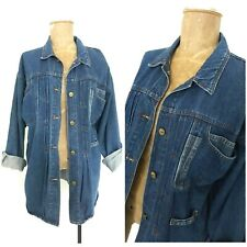 Vintage 80s Sergio Valente Jean Jacket Top Size Large Blue Denim Grunge Rocker
