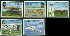 Congo, People's Republic Scott #421v-#426v Complete Imperf Set Mint Never Hinged
