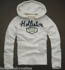 HOLLISTER White/Ivory Hoodie Jacket Me's Large NeW L Pockets Pullover Sweatshirt