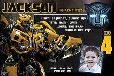 TRANSFORMERS Party Invitation BumbleBee Birthday UPRINT file Transformer