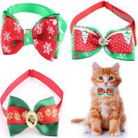 Bowtie Design Cute Christmas Xmas Adjustable Cat Dog Pet  Bow Tie Collar Necktie