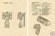 Transformers HOTSPOT US Patent Art Print READY TO FRAME! Protectobot  Takara