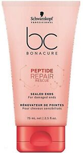 Schwarzkopf Professional BC Peptide Repair Rescue Sealed Ends, Red, 75 ml