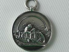 (ref165EB S) Solid silver motorcycle medal SD MCC S Rowland 1929