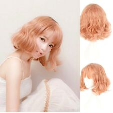 Japan Korea Wig Air Bang Paragraph W/Daily Harajuku Pink Gold Wig Fiber 2018