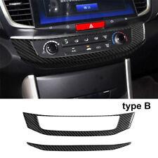 Carbon Fiber Interior AC Console Frame Cover Trim For Honda Accord 13-17 Type B
