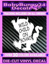 Wild Child on Board Baby Truck Minivan Vinyl Decal Sticker Car Wild Things one