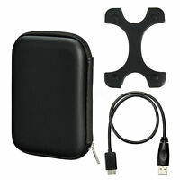 2.5'' HDD Externo Disco Duro Funda Carcasa+Micro USB 3.0 Cable+Funda Silicona X