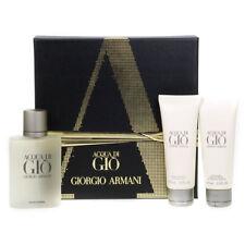 Giorgio Armani Men's Gift Set 100ml Acqua Di Gio Eau De Toilette 3 Piece