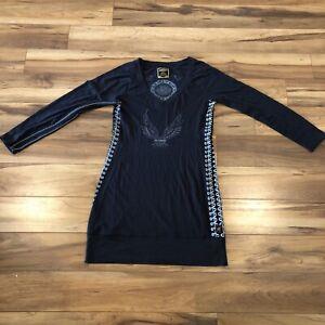 Limited Edition Women's Harley Davidson Dress Faux Laceup Sides Black Size L