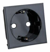Varilight DSEUFB DataGrid Black 16A Euro Socket Schuko (2 DataGrid Spaces)