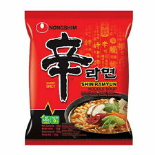 3Pcs NONGSHIM 120g Shin Ramyun Hot Spicy Instant Noodle Ramen Korean Food are