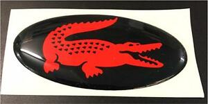 """Scomadi Horncast Badge Black and Red """"LaCoste"""" logo"""