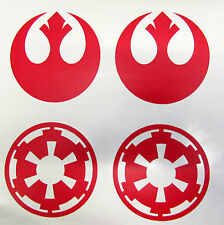 Star Wars Galactic Empire-Alliance Rebelle-Autocollant Vinyle Rouge Mur Autocollant Voiture