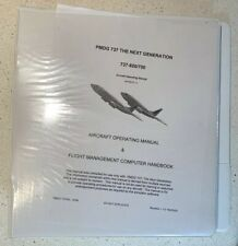 PMDG 737 Pilot Simulator Aircraft Operating Manual & Flight Management Handbook