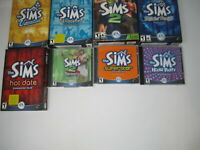 Lot of 8 The Sims 1 Games + Expansions for PC