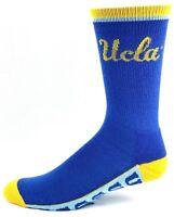 UCLA Bruins NCAA Crew Socks Light Blue Gold